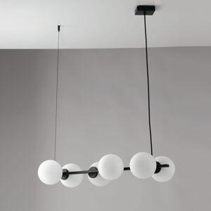 Eco-Light Závesná lampa Enoire v čiernej a bielej, 6-pl.