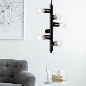 EULUNA Závesná lampa Form so 6 objímkami, čierna