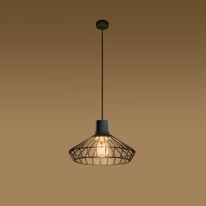 SOLLUX Závesná lampa Grid tienidlo mriežka betón Ø 37cm