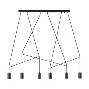 NOWODVORSKI LIGHTING Závesná lampa Imbria, 6-plameňová, čierna