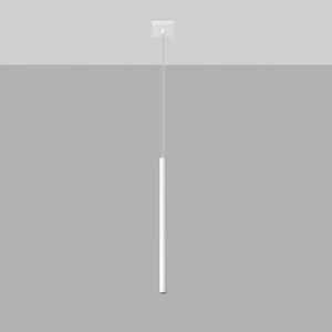 SOLLUX Závesná lampa Thin, biela, jedno-plameňová