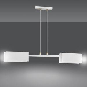 EMIBIG LIGHTING Závesná lampa Tolos 2 White 2 kovové tienidlá