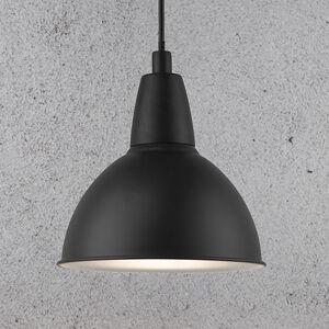 Nordlux Závesná lampa Trude s kovovým tienidlom, čierna