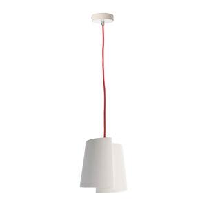 Deko-Light Závesná lampa Twister I, biela, Ø 18cm