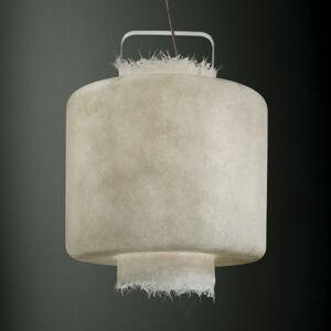 Karman Karman Kimono – biele závesné LED svietidlo 50cm