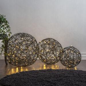 Best Season LED 3D dizajnová guľa Galax, čierna, Ø 50 cm