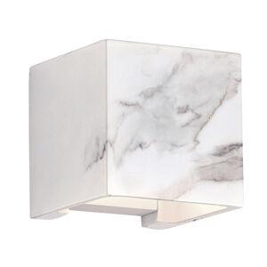 Viokef vonkajšie nástenné LED Davos mramorový dekór biele
