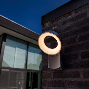 Eco-Light Vonkajšie nástenné LED Meridian s okrúhlou hlavou