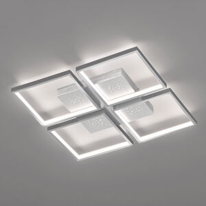 FISCHER & HONSEL Stropné LED Pix, hliník, 4-plameňové, 54x54cm