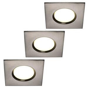 Nordlux Zapustené LED svetlo Clarkson 3ks hranaté oceľ