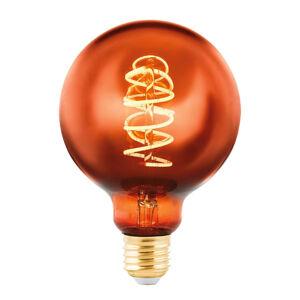 EGLO LED žiarovka Globe E27 4W meď naparená Ø 9,5cm