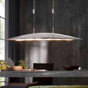 FISCHER & HONSEL LED závesná lampa Colmar, dĺžka 131 cm, nikel