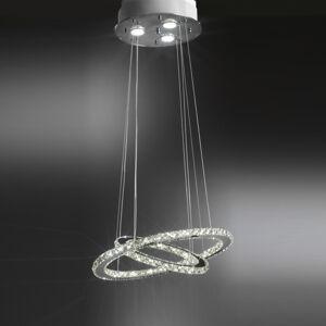 ONLI Závesné LED svietidlo Saturno s krištáľovým sklom