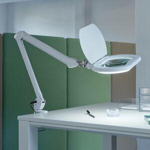 MAUL LED lampa s lupou MAULcrystal s upínaním