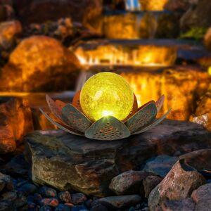 Globo Solárne LED svietidlo 33655, kvet, Ø 22cm