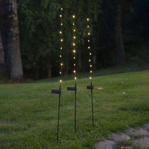 Best Season Solárna LED lampa Flexy, súprava troch