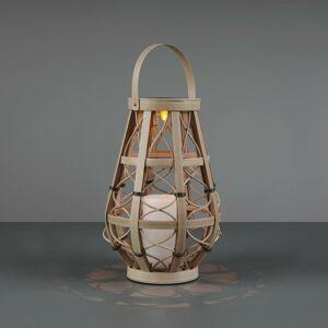 Reality Leuchten Solárna stolná LED lampa Vinto, béžová 27cm