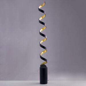 Eco-Light Stojaca LED lampa Helix v čierno-zlatej