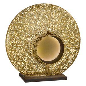 FISCHER & HONSEL Stolná LED lampa Mina kovové tienidlo v zlatej