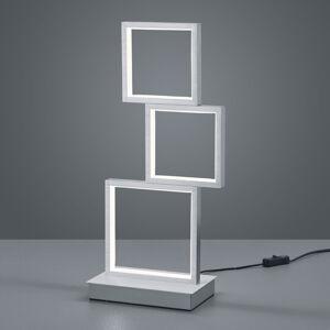 Trio Lighting Stolná LED lampa Sorrento, brúsený hliník