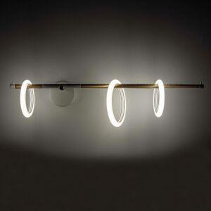 Marchetti Nástenné LED svetlo Ulaop, 3 kruhy, vpravo, biele