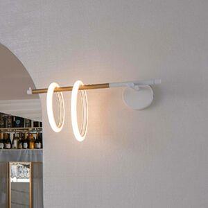Marchetti Nástenné LED svetlo Ulaop, 2 kruhy, vľavo, biele