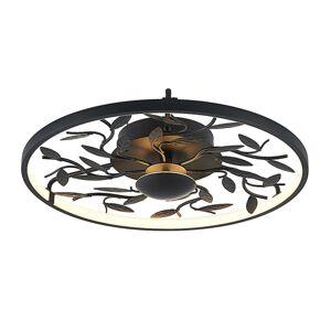 Lindby Lindby Annleorie stropné LED svietidlo čierne