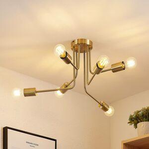 Lindby Lindby Cerros stropná lampa 6-plameňová, mosadz