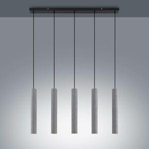 Lindby Lindby Concretto závesná lampa s 5 tienidlami