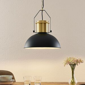 Lindby Lindby Freitjof závesná lampa čierna/mosadzná