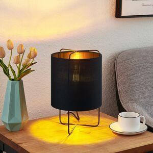 Lindby Lindby Kesta stolná lampa, čierno-zlatá, 32 cm