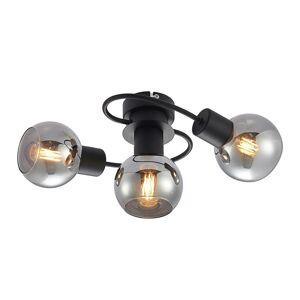 Lindby Lindby stropné LED svetlo Ciala 3-pl. čierna smoke