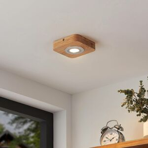 Lindby Lindby Mikari stropné LED svietidlo z dreva, 1-pl.