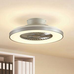 Lindby Lindby Orligo stropný LED ventilátor, striebro