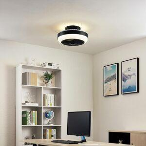 Lindby Lindby Pavel LED stropný ventilátor, čierny