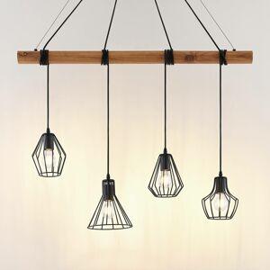 Lindby Lindby Samino závesná lampa, 4 tienidlá klietka