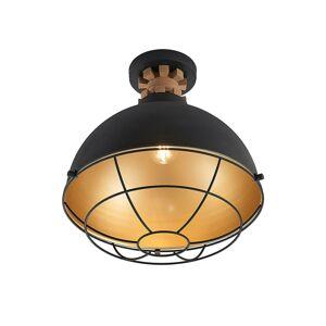 Lindby Lindby Swantja stropná lampa, klietka, čierna