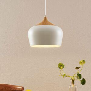 Lindby Lindby Vilsera závesná lampa biela, drevený prvok