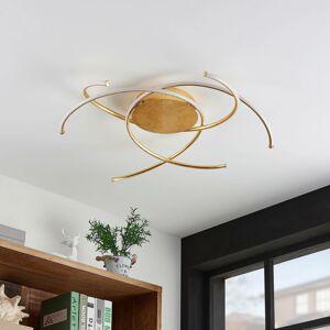Lindby Lindby Yareli stropné LED svietidlo, zlatá