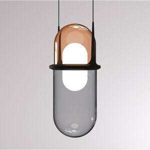 LOUM LOUM Pille závesné LED svietidlo meď/sivé