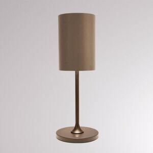 LOUM LOUM Pokula stolná LED lampa hnedá