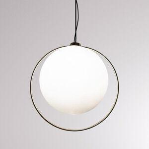 LOUM LOUM Tycho závesná lampa prstenec mosadznej farby