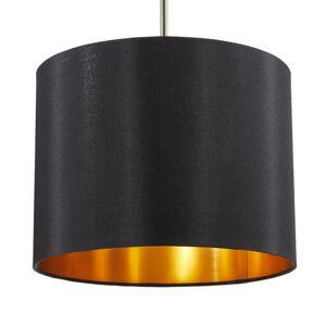 Lucande Lucande Patrik závesná lampa Ø30 cm čierna