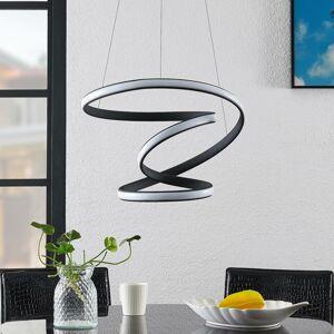 Lucande Lucande Sakina LED závesná lampa strieborná Ø 48cm