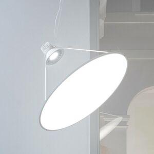 Luceplan Luceplan Amisol závesné LED Ø75cm opálová biela