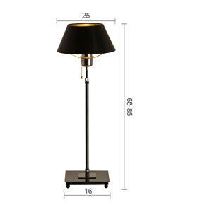 Menzel Menzel Antos AF4125 stolná lampa, tienidlo čierne