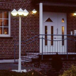 Albert Leuchten Moderné stĺpové svietidlo 181, biele, 3-plameňové
