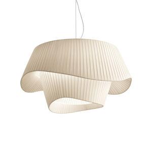 MODO LUCE Modo Luce Cocó textilná závesná lampa Ø60cm béžová