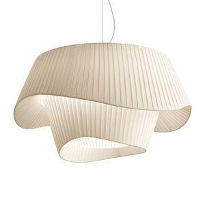 MODO LUCE Modo Luce Cocó -textilná závesná lampa Ø80 béžová