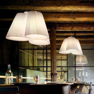 MODO LUCE Modo Luce Florinda závesná lampa 3-pl. plisé biela